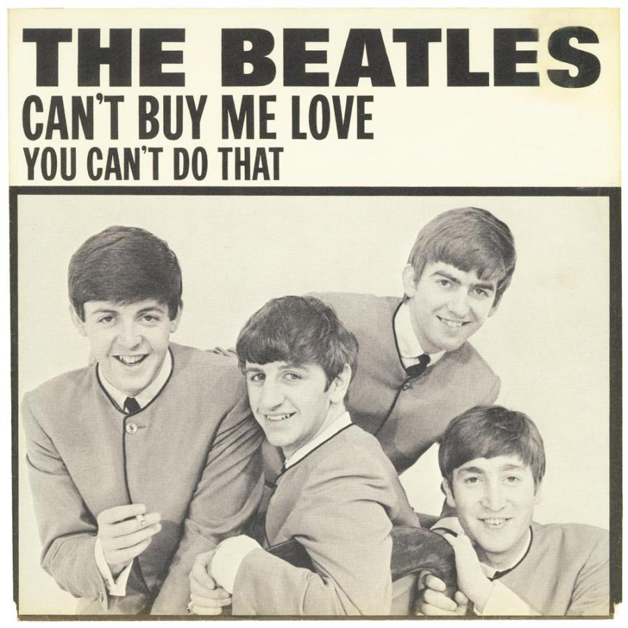 "The sleeve to The Beatles' single ""Can't Buy Me Love"" b/w ""You Can't Do That,"" released in March 1964. Courtesy of www.thebeatles.com"